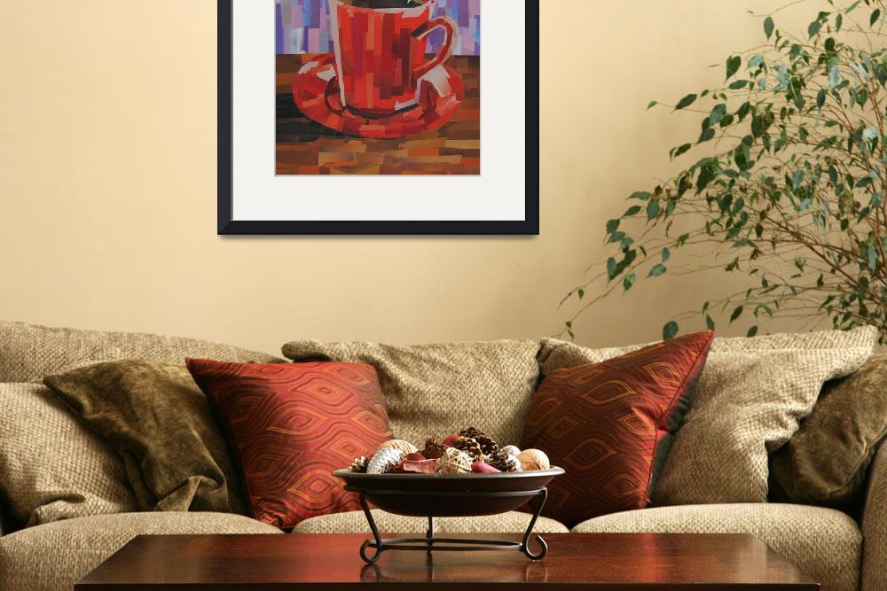 """Red Coffee Cup&quot  (2008) by megancoyle"