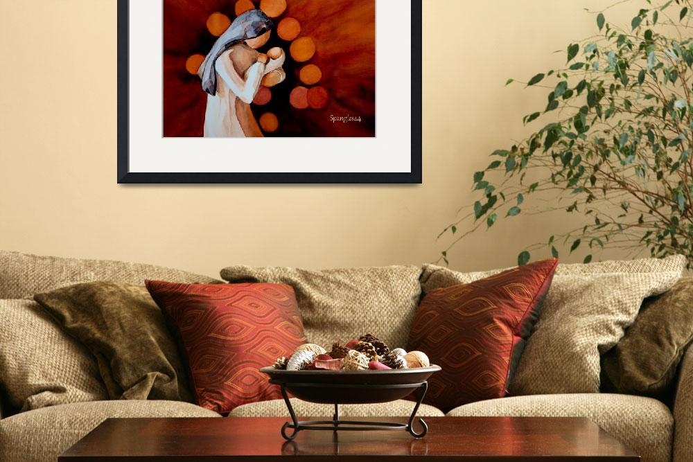 """willow tree madonna painting&quot  (2009) by Spangles44"