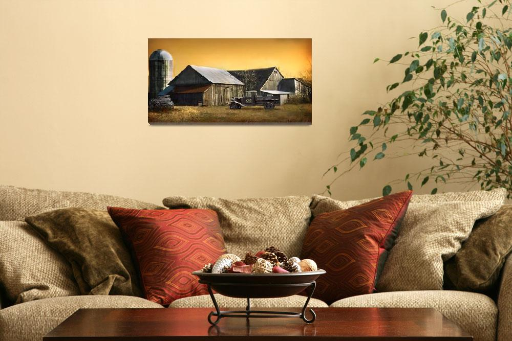 """Old Vintage Barn&quot  (2010) by EMBlairArtwork"