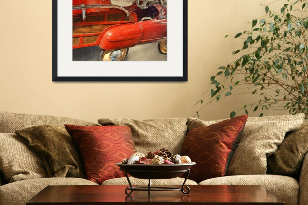 """Fire Engine Pedal Car&quot  (2013) by Michelle1991"
