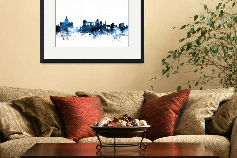 """Rome Italy Skyline&quot  (2015) by ModernArtPrints"