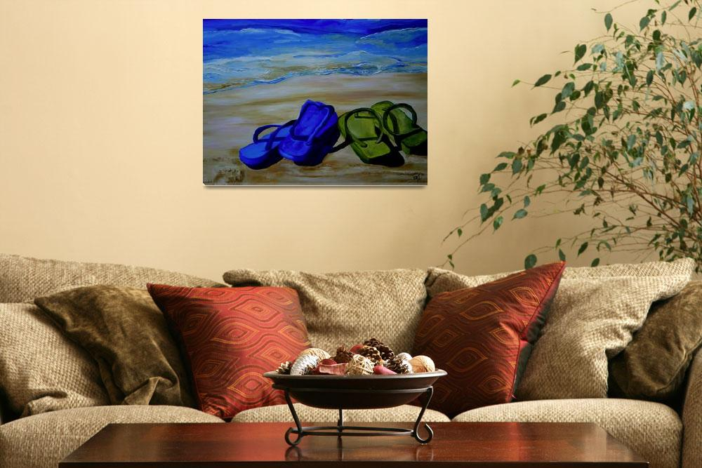 """Naked Feet on The Beach&quot  (2007) by artbypatti"