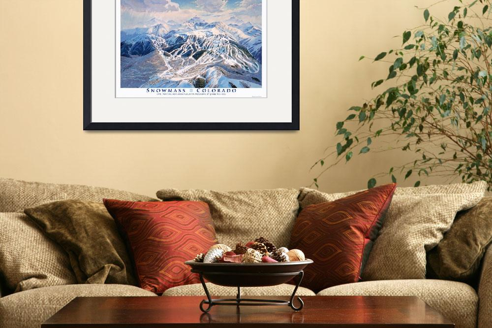 """Snowmass Colorado&quot  (1991) by jamesniehuesmaps"