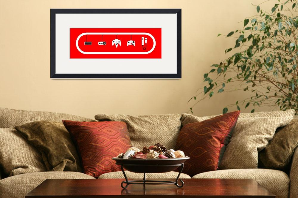 """Nintendo Controller Evolution Red&quot  (2011) by smartjock"