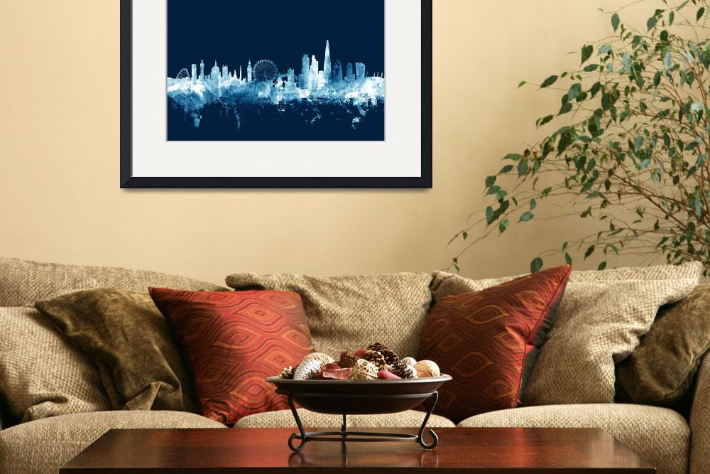 """London England Skyline&quot  (2015) by ModernArtPrints"