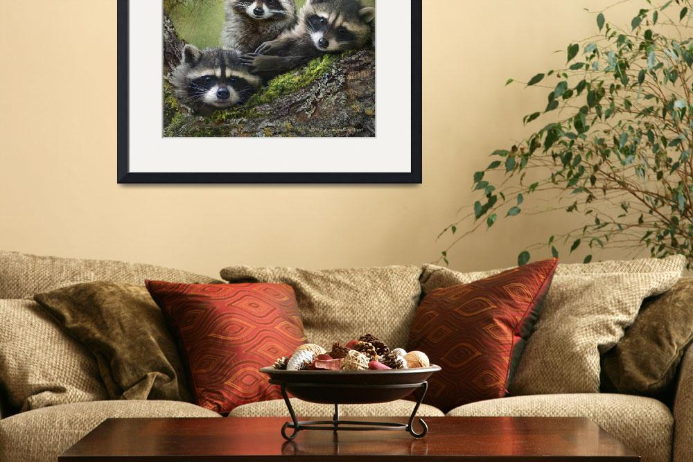 """raccoons as art&quot  (2013) by rchristophervest"