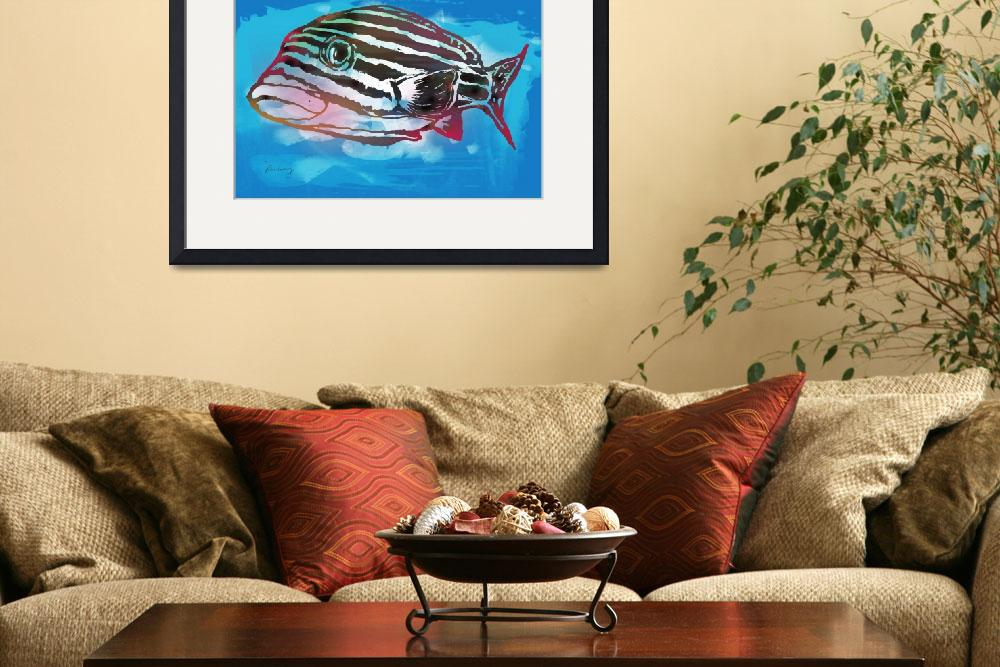 """Fish - Stylised Pop Modern Art Poster&quot  (2014) by visualharbour"