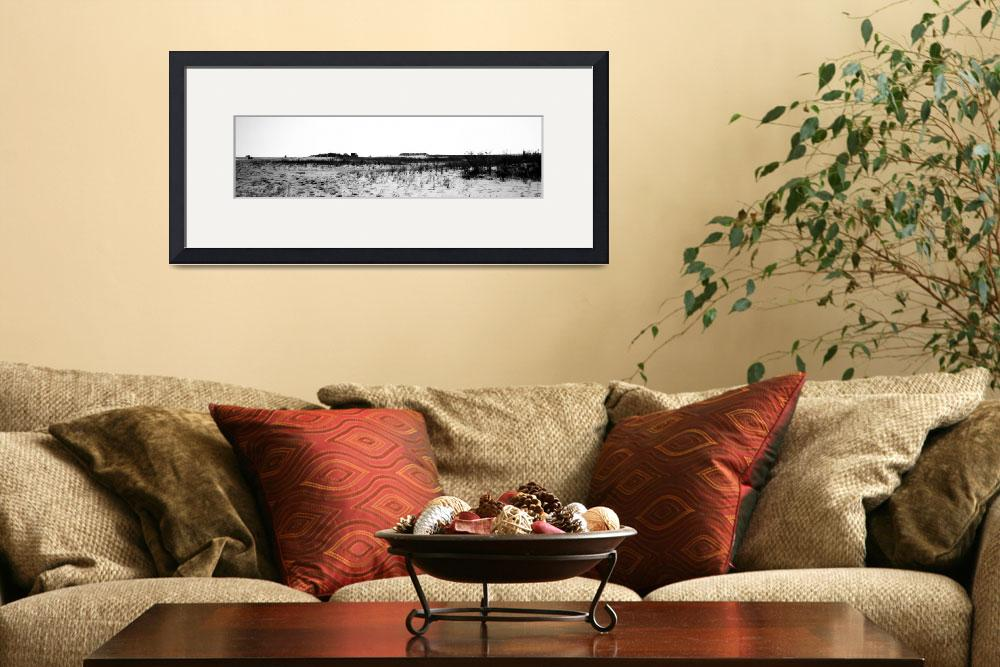 """Panoramic of Chincoteague Beach&quot  (2010) by NatalieRobinson"