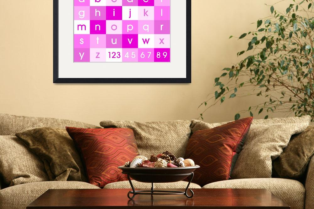 """Alphabet Pink&quot  (2011) by ModernArtPrints"