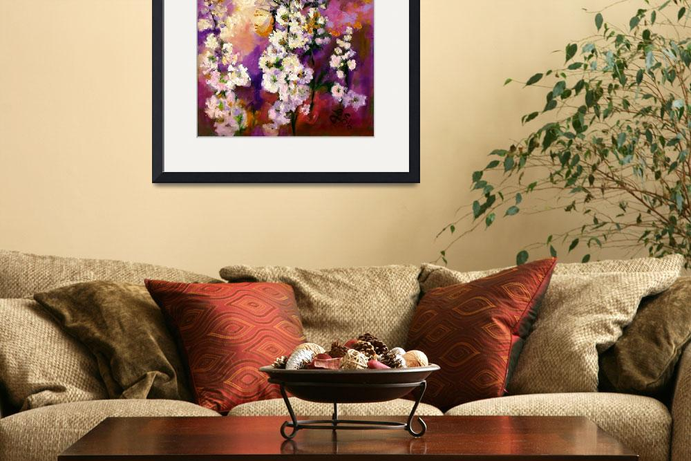 """Impressionist Hollyhock Butterflies Oil Painting&quot  (2006) by GinetteCallaway"