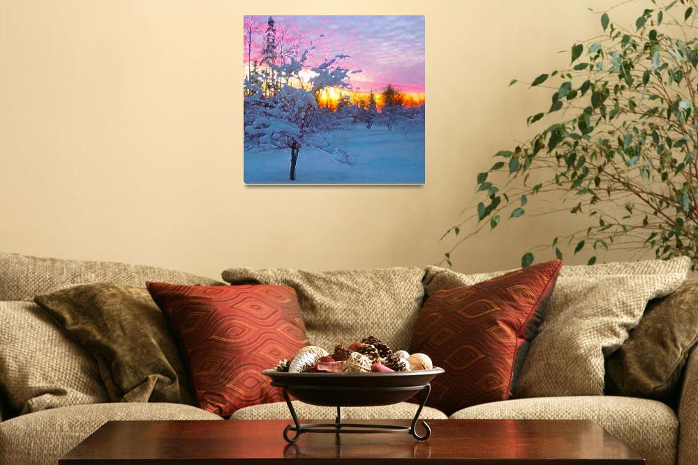"""Winter Sunset&quot  (2010) by LJdesigns"