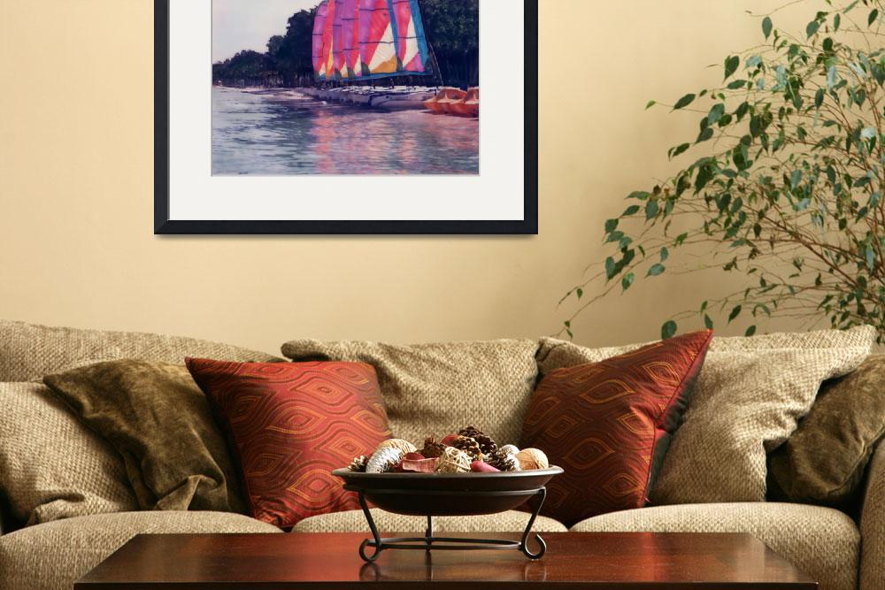 """Sail Boats Reflections&quot  (2004) by joegemignani"