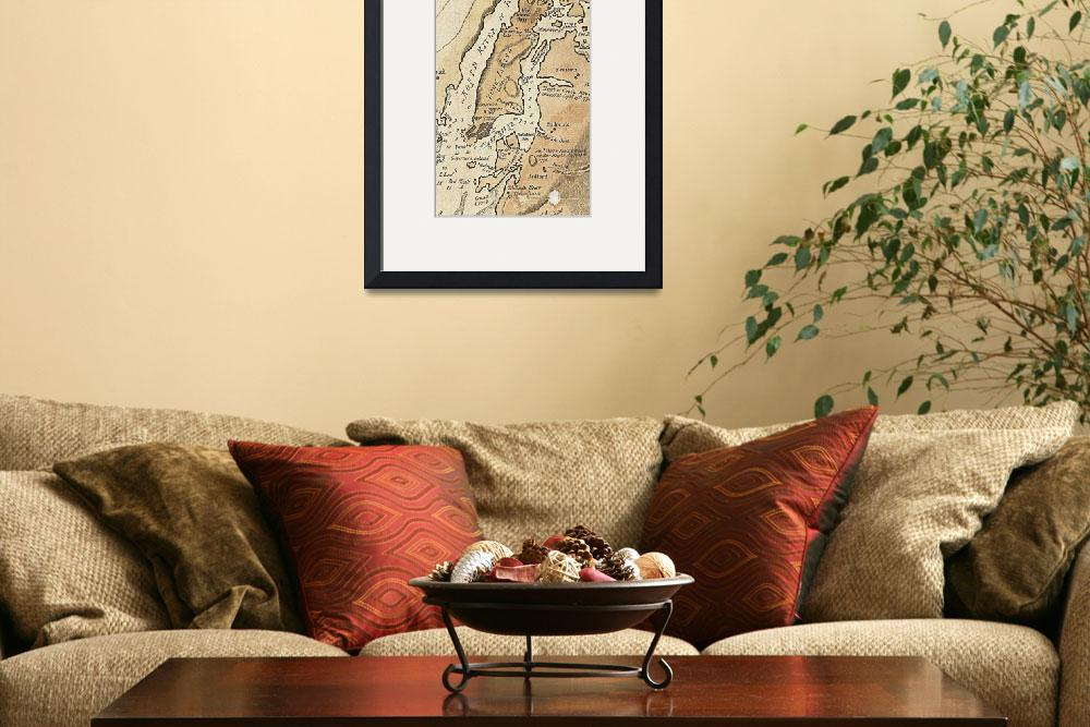 """Vintage Manhattan Map (1781)&quot  by Alleycatshirts"