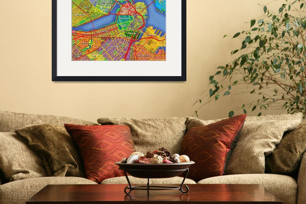 """Boston Map Art&quot  (2013) by Hein"