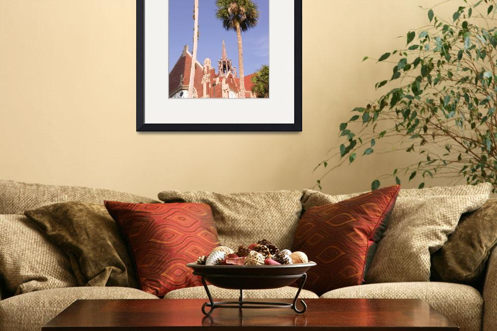 """University of Florida Auditorium and Palm Trees&quot  by fineartphoto"
