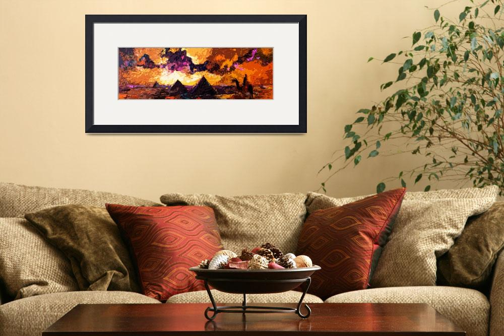 """Abstract Modern Panoramic Egypt Pyramids&quot  (2012) by GinetteCallaway"