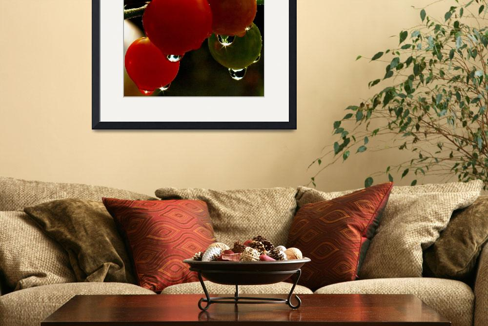 """Cherry Tomatoes&quot  (2009) by bavosiphotoart"