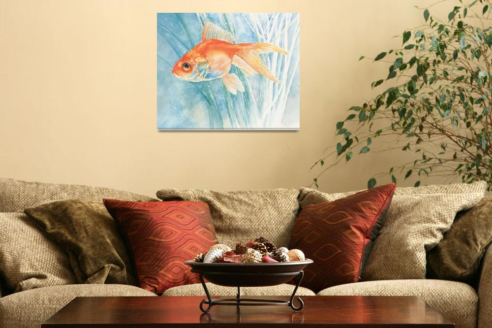"""goldfish&quot  by LisaMclaughlin"