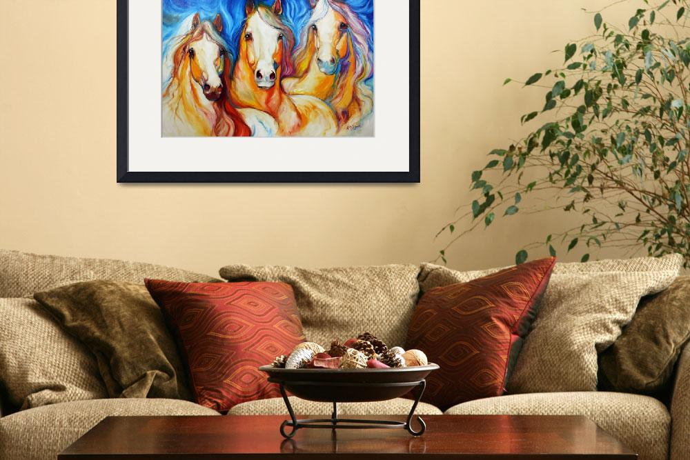 """SPIRITS THREE EQUINE ART by MARCIA BALDWIN&quot  (2010) by MBaldwinFineArt2006"