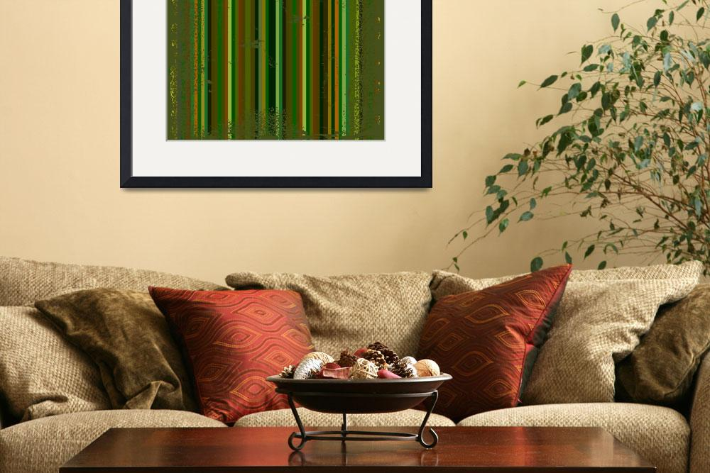 """dark green grunge metallic stripes&quot  by robertosch"