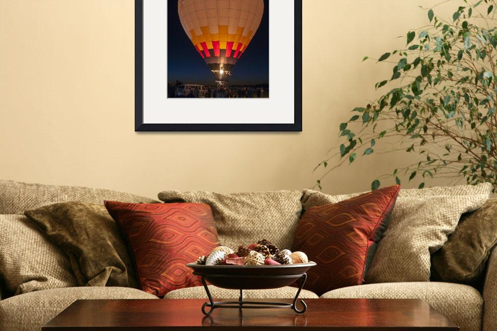 """Peach Hot Air Balloon Night Glow&quot  (2015) by Kirtdtisdale"