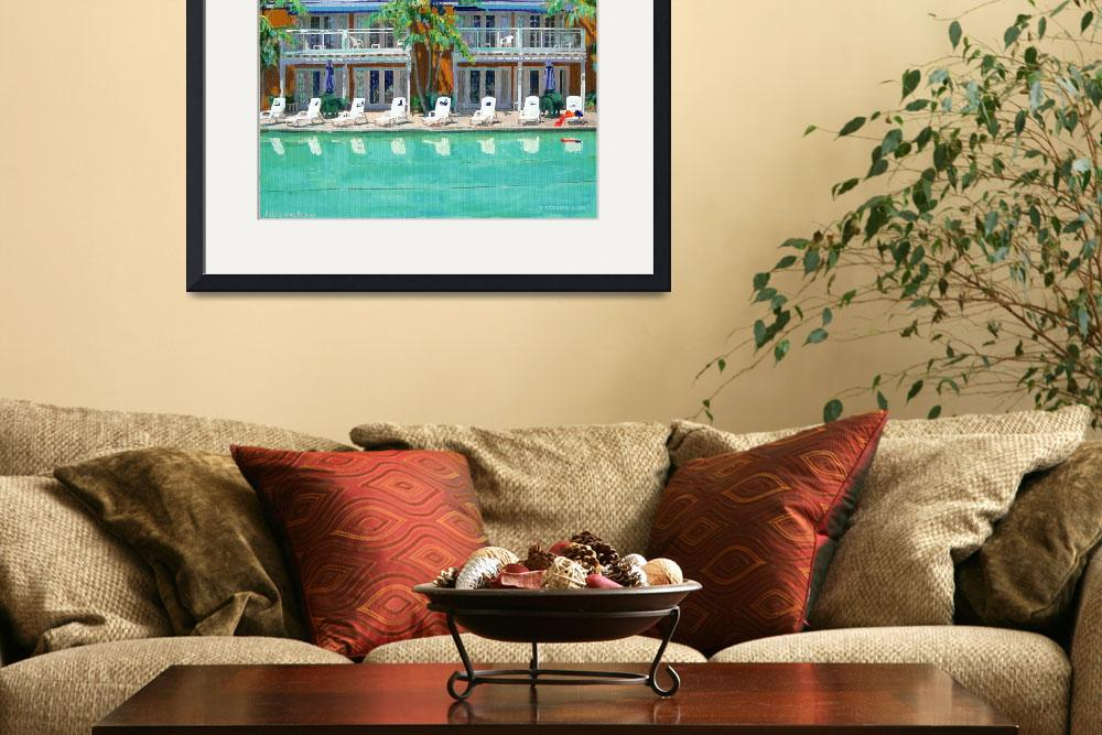 """Poolside by RD Riccoboni&quot  by BeaconArtWorksCorporation"