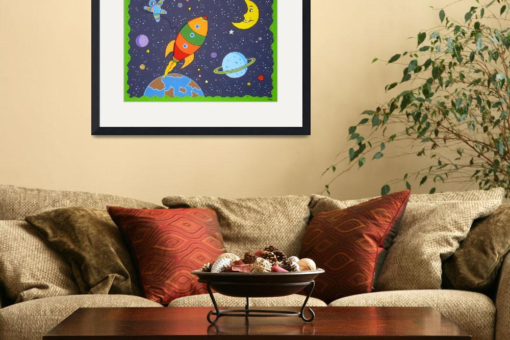 """Space travel nursery painting&quot  (2008) by nopiepan"