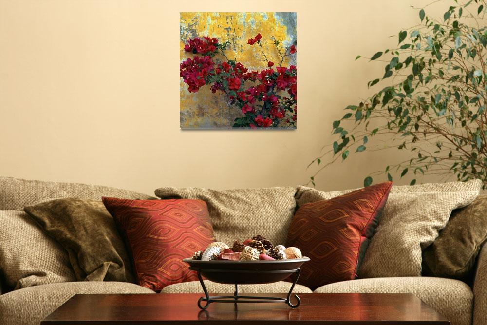 """Bougainvillea By Mission Wall&quot  (2013) by Lawrence"