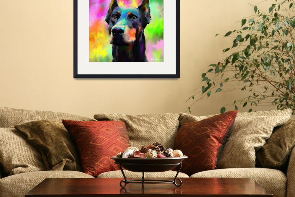 """Doberman Pincher Dog painting print&quot  by SvetlanaNovikova"