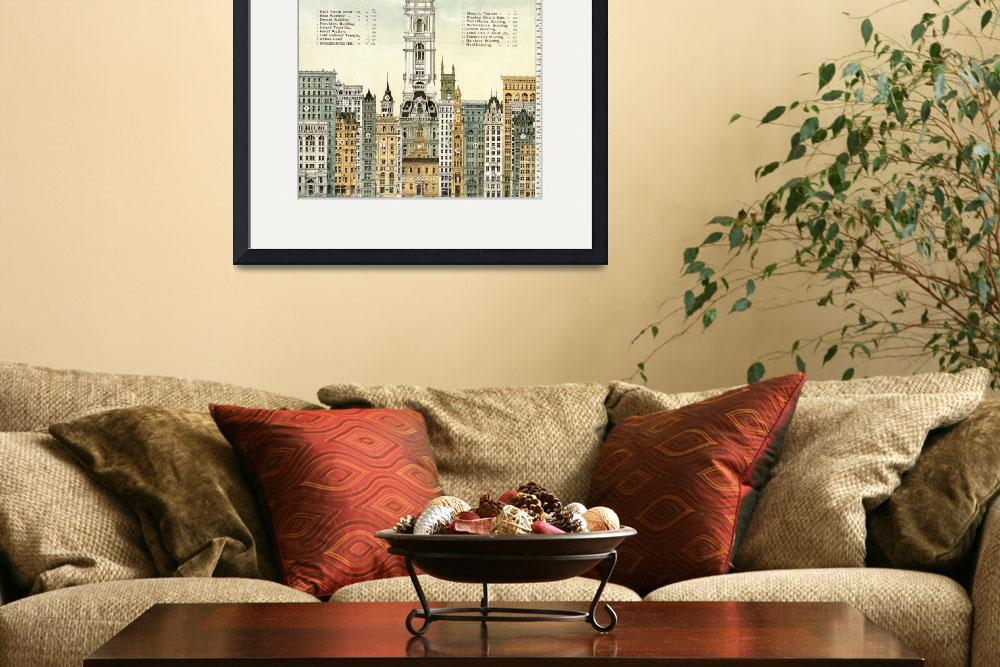 """PHILADELPHIA SKYSCRAPERS&quot  by homegear"