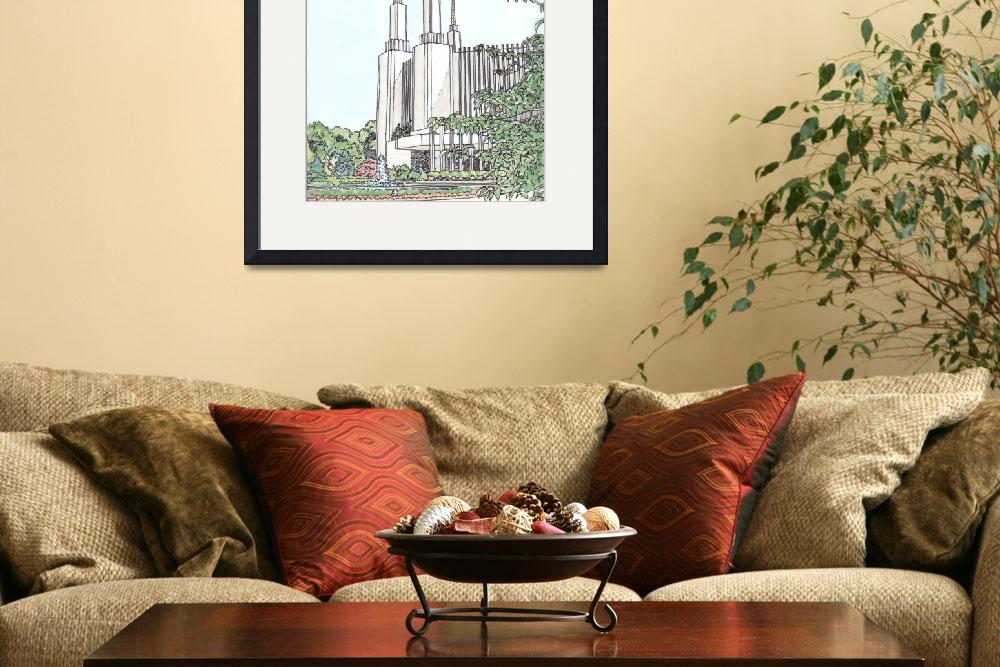 """Washington DC Temple&quot  (2009) by DanAnderton"