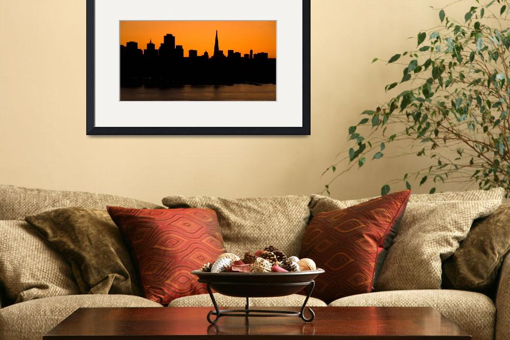 """San Francisco skyline at sunset&quot  by canbalci"