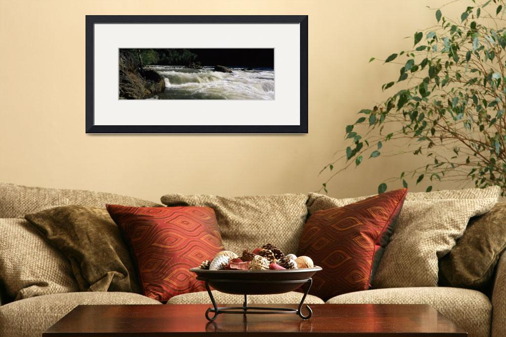 """Water flowing through rocks&quot  by Panoramic_Images"