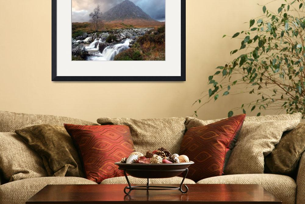 """Buachaille Etive Mor and the Coupall Falls&quot  (2007) by trekpete"
