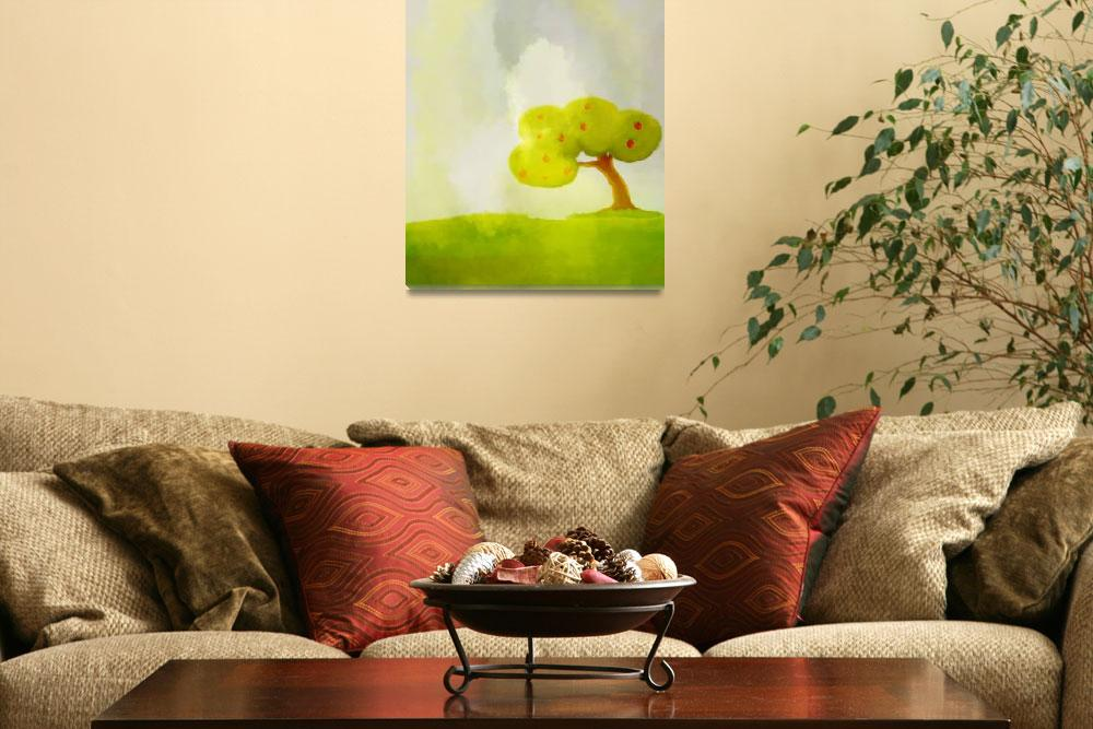 """Background_wallpaper_Apple_tree&quot  (2012) by eydiHB"