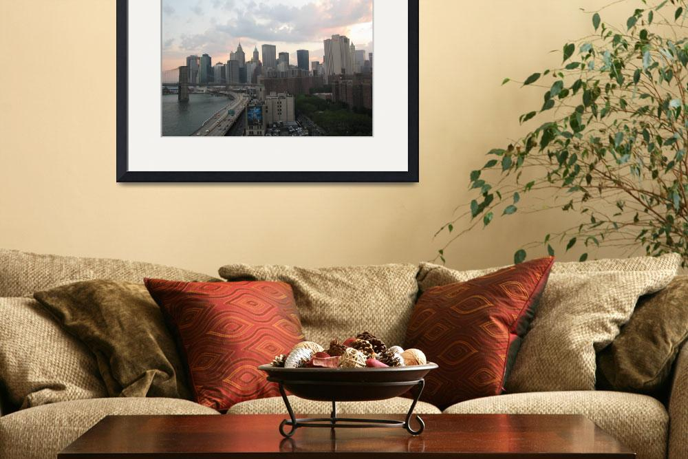 """NewYork Downtown and FDR drive&quot  (2008) by gana"
