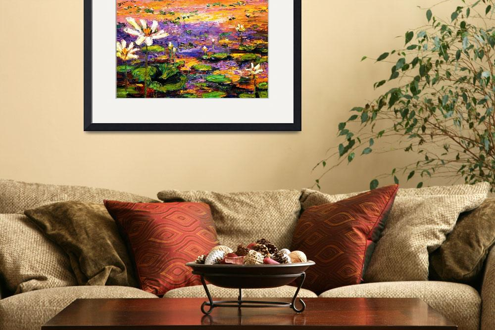 """Georgia Lily Pond Impressionist Painting&quot  (2006) by GinetteCallaway"