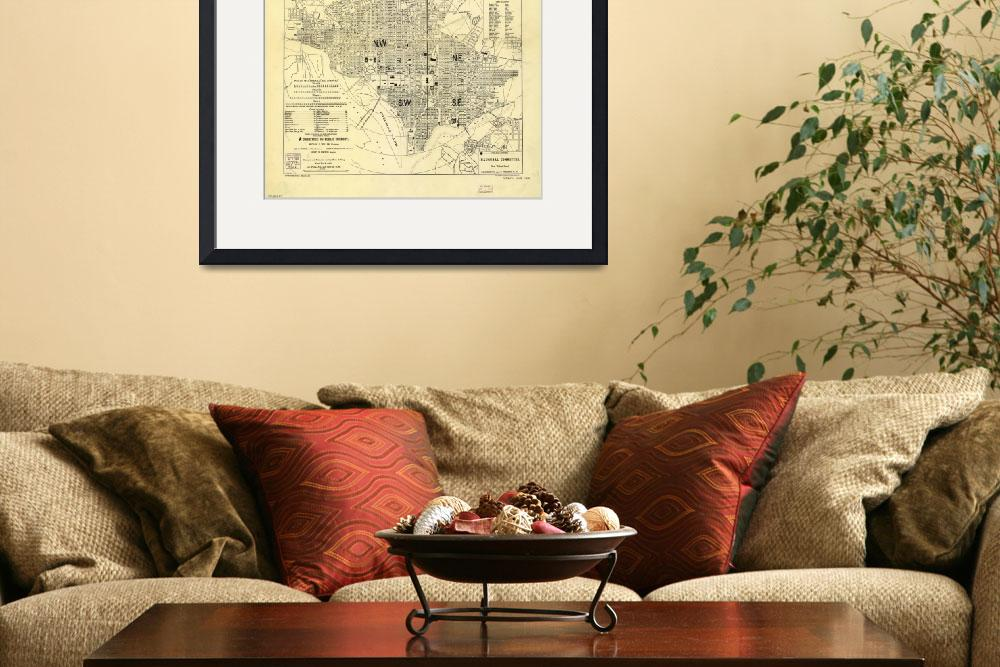 """Vintage Map of Washington D.C. (1909)&quot  by Alleycatshirts"