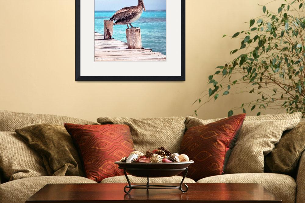 """Pelican Pier Treasure Coast Florida Seascape C1&quot  (2015) by Ricardos"