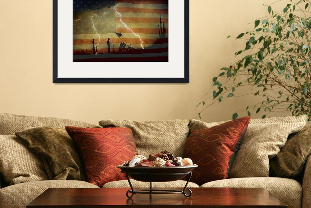 """Patriotic Desert Storm&quot  (2010) by lightningman"