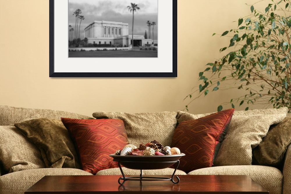 """Mesa Temple Large-16x22-BW&quot  by TerrySpringer"