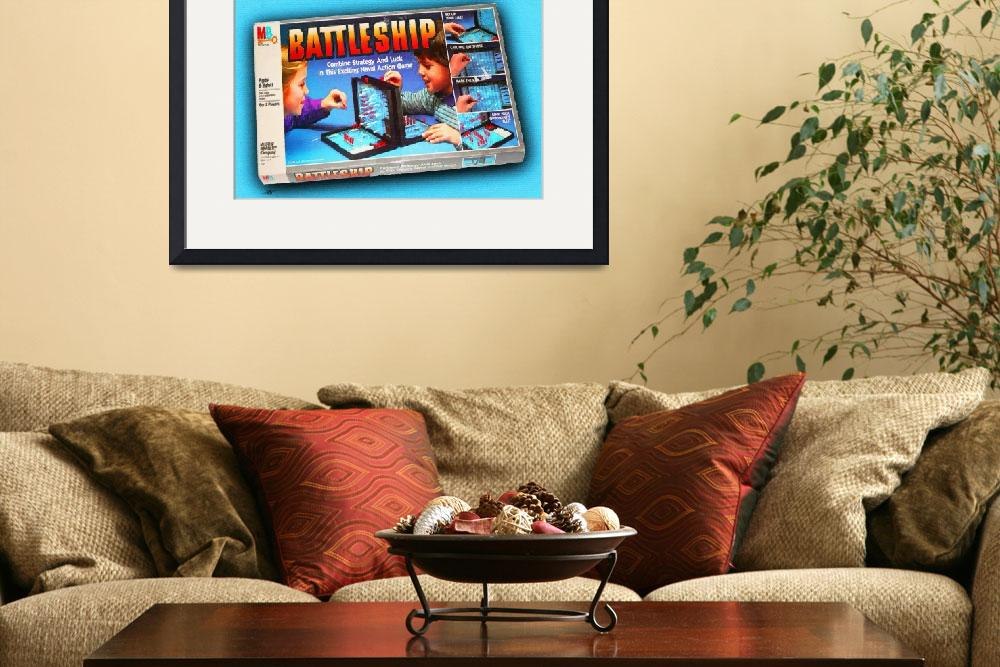 """Battleship Board Game Painting&quot  by RubinoFineArt"