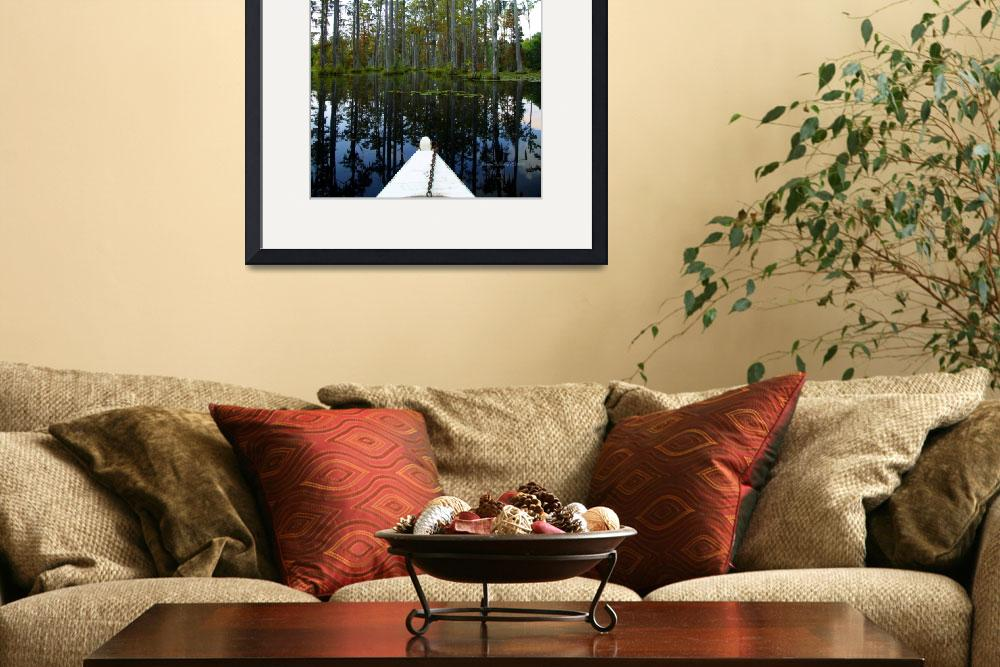 """Paddeling Through Cypress Gardens Swamp&quot  (2010) by GinetteCallaway"