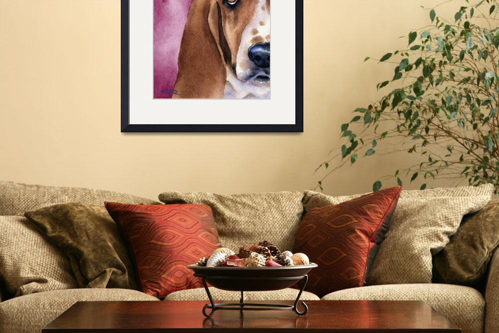 """""Basset Hound""&quot  (2015) by k9artgallery"