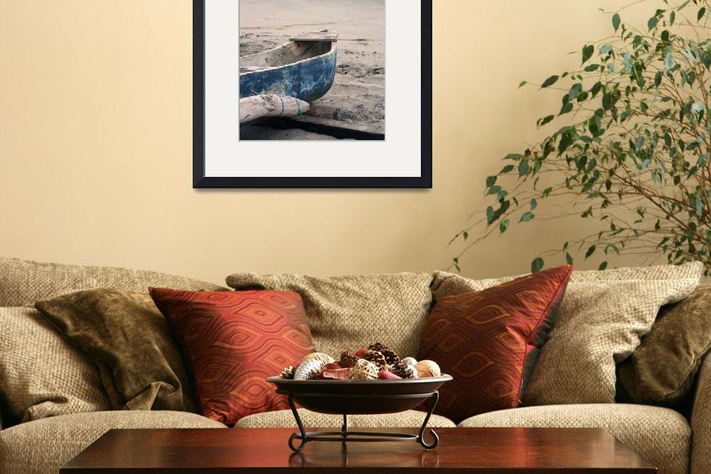 """Fishing Boat on the Beach&quot  (2012) by rhamm"