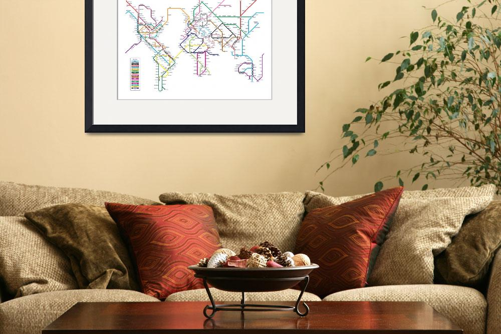 """World Tube Metro Map&quot  (2010) by ModernArtPrints"