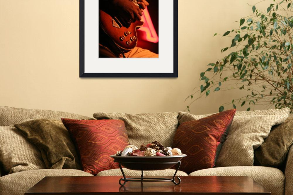 """Guitar player&quot  (2008) by RJWhetstone"
