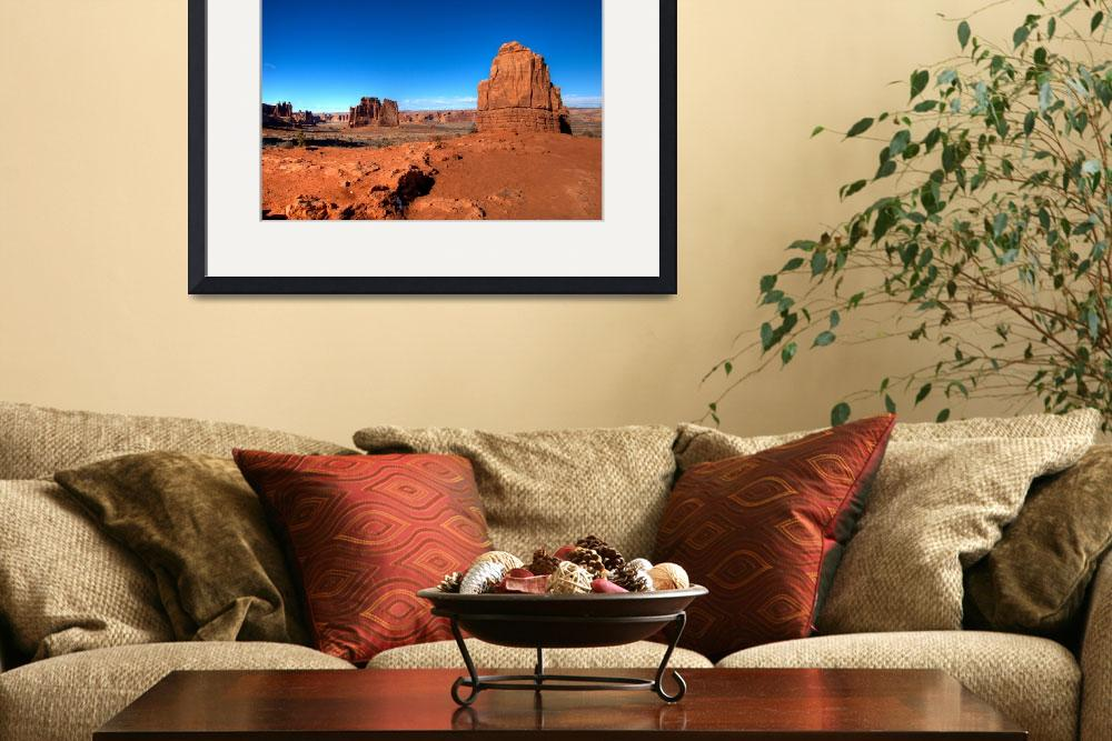 """Blue vs Red - Arches National Park,Utah, USA&quot  (2009) by miyuru"
