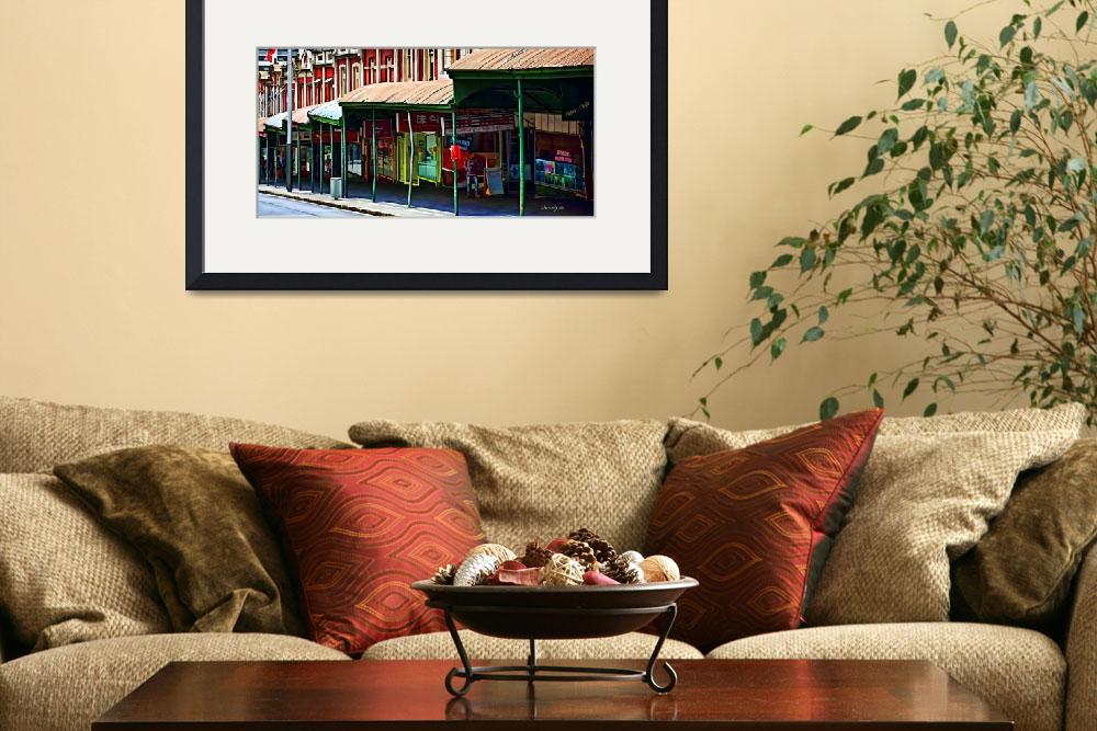 """Queen Street Shops Panorama&quot  (2010) by johncorney"