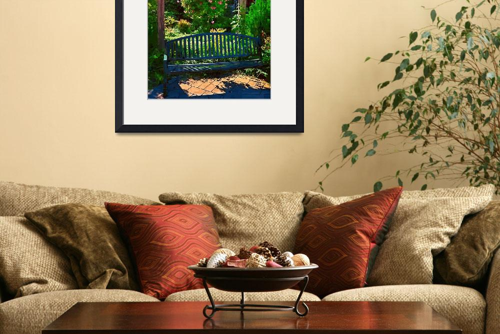 """Pergola and Bench&quot  (2013) by Kirtdtisdale"